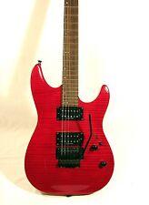 Laguna LE524 HH 24 Fret Electric Guitar Trans Red Swamp Ash Body Maple Neck
