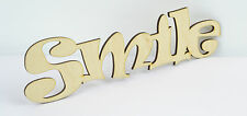 Plain SMILE Wooden Script Letter Sign/ Wall Plate/ Home Decor/ Door Sign