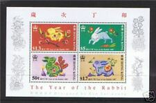 Hong Kong 1987 Year of Rabbit M.S.SG533 MNH
