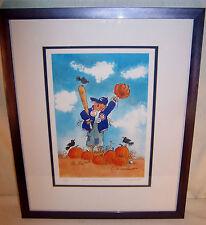 Vintage CHICAGO CUBS Baseball Framed Print WAIT UNTIL NEXT YEAR Nick Engelhardt
