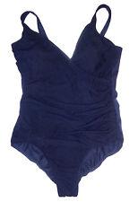Swim Shaper, Navy Blue Wrap Style One Piece Swimsuit, Built-in Bra, size 14