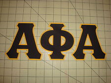 ALPHA PHI ALPHA FRATERNITY (NO SEW) 5 INCH IRON ON LETTERS - BLACK/GOLD