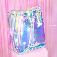Bag Holographic Shoulder Women Handbag Purse Hologram Tote Crossbody