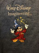 Disney Imagineering denim jacket Mens Xxlarge Colorful Sorcerer Mickey