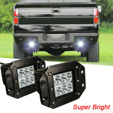 2pcs 18W  LED Work Light Bar Offroad Driving Fog ATV Flush Mount Spot BEAM