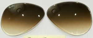 Ray Ban RB3025 (Aviator)55mm gradient brown replacement lenses