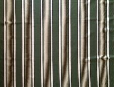 CLARENCE HOUSE Awning Stripe Green Cream Woven Cotton 2+ yards New