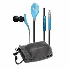 iGroove In Ear Headphones with Flat Cable, Microphone and In Line Controls Blue