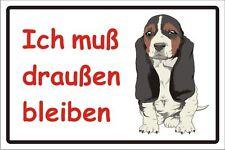 Hundeverbot Verbotsschild Schild Aufkleber Ich muss draußen bleiben Nr. 3186