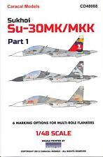 Caracal Decals 1/48 SUKHOI Su-30MK Su-30MKK FLANKER Part 1