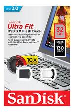 SanDisk 32GB 32G CZ43 Cruzer Ultra Fit USB 3.0 Nano Flash Pen Drive SDCZ43-032G