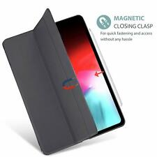 iPad Pro 12.9 Case Magnetic Closing Ultra Slim Stand Smart Auto Sleep Wake Grey