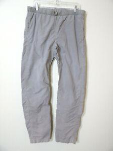 Gramicci Tan Hiking Climbing Pants Medium Elastic Belted Waist Nylon Men's 34X32