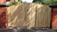 *****WOODEN DRIVEWAY GATES GARDEN GATES DOUBLE GATES PRESSURE TREATED HEAVY DUTY