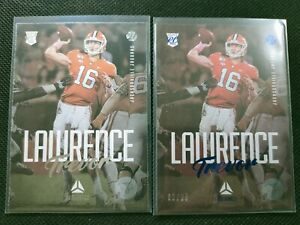 Trevor Lawrence 2021 Panini Luminance RC Rookie Card Blue Parallel 2x Lots 82/99