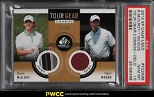 2014 SP Game Used Tour Gear Combo Gold Rory McIlroy Tiger Woods PATCH /25 PSA 10