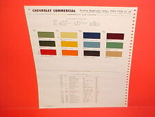 1949 1950 1951 1952 CHEVROLET PICKUP TRUCK SUBURBAN STAKE CADILLAC PAINT CHIPS