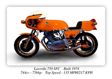 Laverda 750 SFC Motorcycle A3 Size Poster on Photographic Paper 17 x 12 Inches