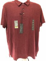 New Marc Anthony Men's Size Medium Slim Fit Red Solid Polo Short Sleeve Shirt
