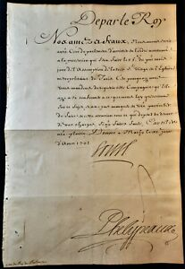 KING LOUIS XIV SIGNED LETTER RELATED TO THE PROCESSION ON THE ASSUMTION DAY 1701