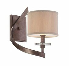 Savoy House 9-4432-1-285 Sconce with Champagne Shades, Antique Nickel Finish