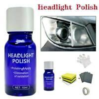 Car Headlight Lens Restoration System Repair Set Plastic Light Polishing Clean