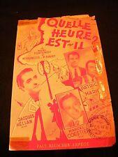 Partition Quelle heure est il?  Hélian Coestier Patrice Mario Music Sheet