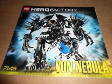 Vintage LEGO Instruction Manual Hero Factory VON Nebula 2010 7145