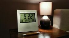 Orologio da Parete Digitale LCD Scrivania Allarme temperatura QUADRATO SCUOLA TIMER CALENDARIO Il Conte
