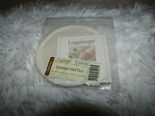 Longaberger Coaster Hot Pad. New! In original plastic. Ivory color.