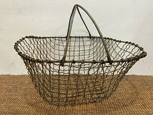 Vintage Metal wire Potato Basket rustic farm basket