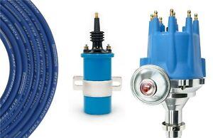 Billet Distributor 8.5mm Spark Plug Wires Coil fit Toyota Land Cruiser FJ40 FJ55