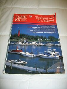 Vintage Chart kit BBA Jacksonville to Miami Nautical Maps 1992 3rd Edition Book