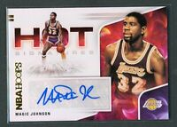 2020-21 MAGIC JOHNSON AUTO PANINI HOOPS HOT SIGNATURES AUTOGRAPHS