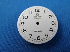 White Atlantic Watch Dial Part 25.5mm -17 Jewels- Swiss Made -Incabloc- #301