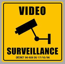 VIDEO SURVEILLANCE CAMERA PROTECTION 12cm AUTOCOLLANT STICKER VA093