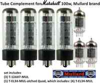 Premium MULLARD Tube Set for Marshall 100W guitar amplifier made in Russia
