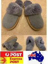 100% Sheepskin Scuff slippers comfy warm Ladies Size measurement Grey, AU stock