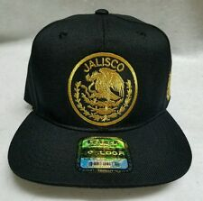 JALISCO   MEXICO  BASEBALL HAT BLACK  2 LOGOS  BACK ADJUSTABLE NEW