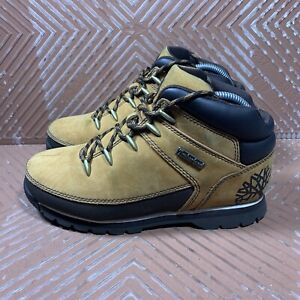 Timberland Boots Tan/Brown Boys Size 5.5Y Suede Leather/Rubber 9698R Beautiful!