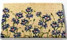 """Kokosmatte Türvorleger Schmutzfangmatte Fußabtreter Kokos 60x40cm """"Blaue Blumen"""""""