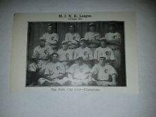Falls City Colts Bill Kemmer Ray Miller 1910 Baseball Team Picture