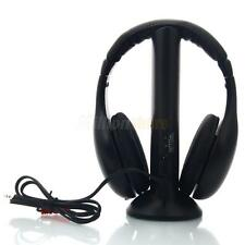5in1 Wireless Headphone Headset for FM Radio Mp3 Mp4 TV DVD PC VCD Computer US