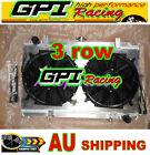 3ows Aluminum Radiator For Nissan Silvia S14 S15 SR20DET 240SX 200SX &shroud&fan