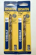 2 Irwin 1132 Cobalt Drill Bits 3016018 Split Point Jobber Hardened Steel