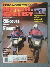 1986 SEPTEMBER MOTORCYCLIST MAGAZINE BMW K100RT HONDA SUZUKI HARLEY GSXR YZF CBR
