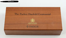 NEW Parker Duofold Centennial Writing Desk Wood Pen Tray / Box / Case for 2 Pens