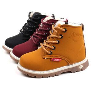 Children Kids Winter Warm Boys Girls Martin Sneaker Boots Kids Baby Casual Shoes