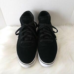 Polo Ralph Lauren Hanford Mid Ankle Boots  Mens Shoes Suede Mesh Size 15D Black