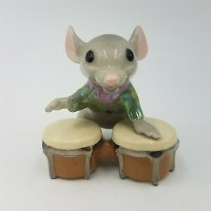 Vintage 1992 Hagen Renaker Mouse Band Bongo Player #3057